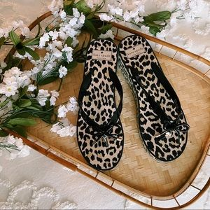 Kate Spade Rhett Wedged Flip Flops sz 10